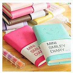 mini glimlach gezicht kleurrijke dagboek notebook (willekeur... – EUR € 4.99