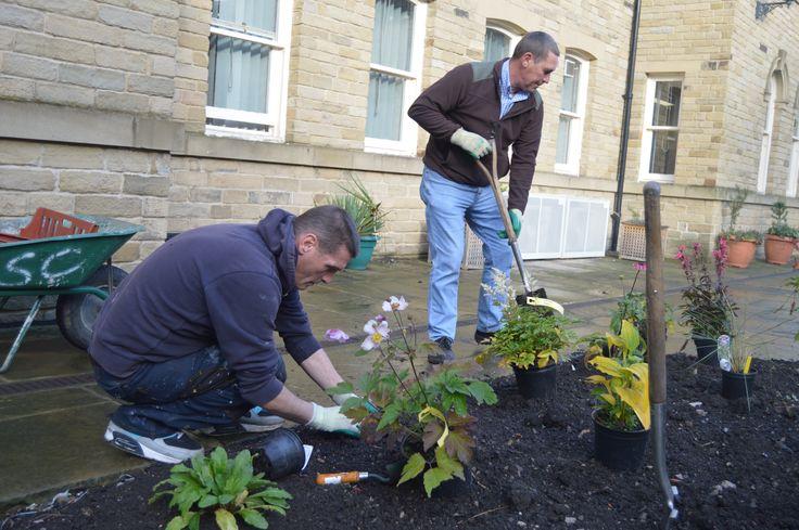 Doing a wonderful job brightening up our College garden!
