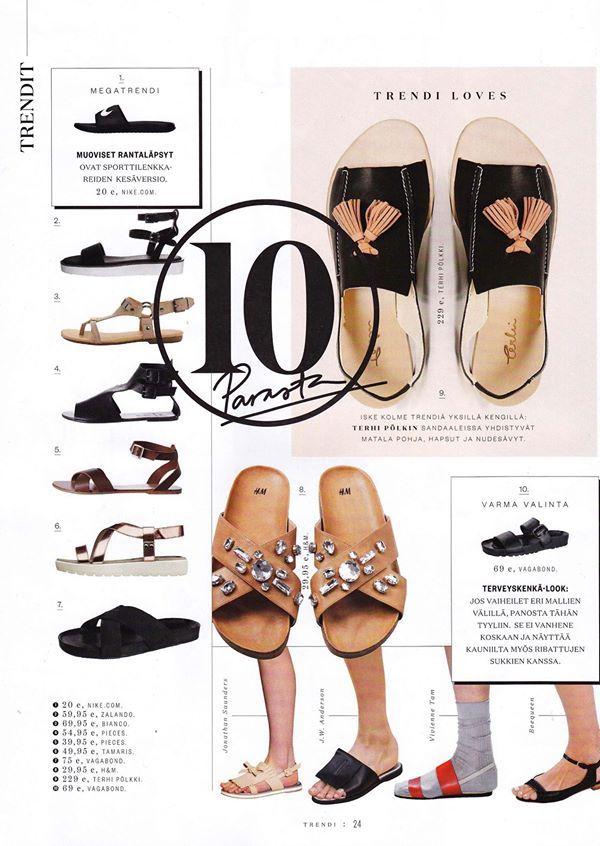 Loafer Sandal, white. Trendi 3/2014.