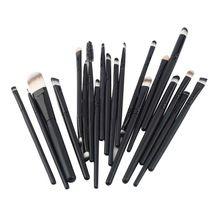 Livraison gratuite 20 Pcs pinceaux de maquillage Set teint poudre fard à paupières eye - liner lèvres cosmétiques brosses Maquiagem StockClearance(China (Mainland))