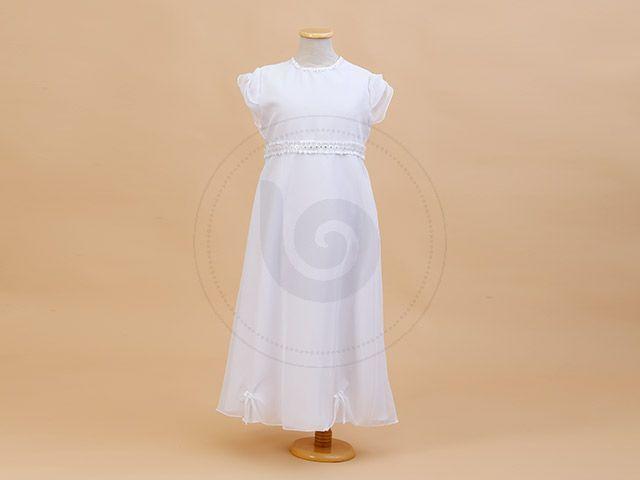 VEST C/ FAJA DE ORGANZA CRISTAL Y STRASS EN CINTURA Children Dior #Comunion #vestidos #nena