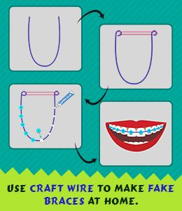Tip to make fake braces at home