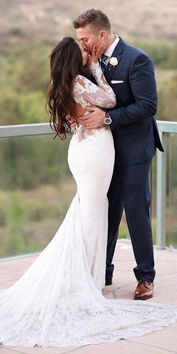 Real Brides In Ines Di Santo Wedding Dresses ❤ See more: http://www.weddingforward.com/ines-di-santo-wedding-dresses/ #weddings
