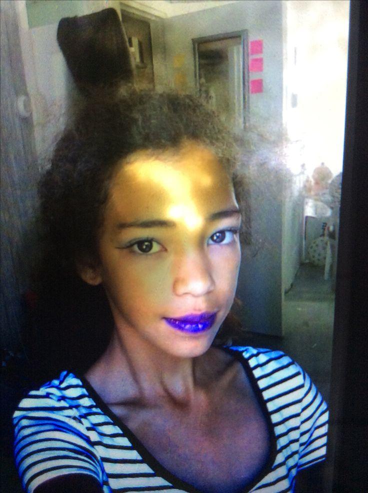Make Up exotische . Dat op mijn hoofd is per ongeluk