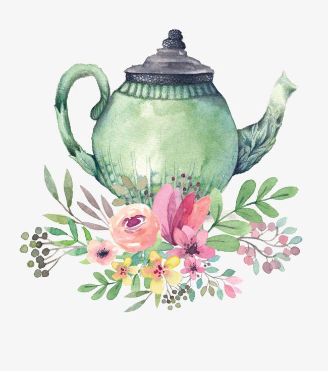Art Teapot Art Clipart Teapot Clipart Flowers Png Transparent Clipart Image And Psd File For Free Download Tea Pots Art Tea Pots Vintage Tea Pot Illustration