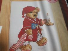 Bengry Bear Up the Wooden Stairs The World of Cross Stitching  Issue 79 December 2003 Saved