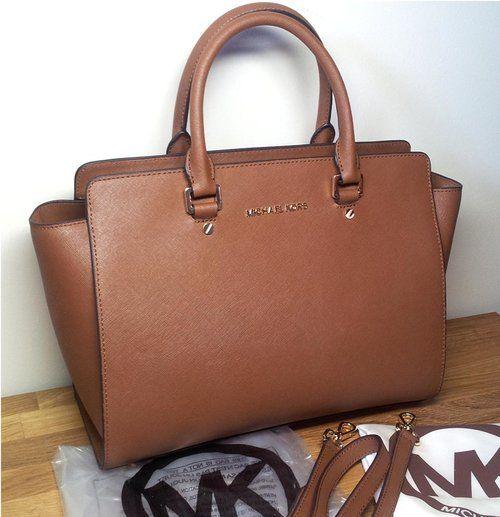 michael kors selma large luggage brown cross body bag my. Black Bedroom Furniture Sets. Home Design Ideas