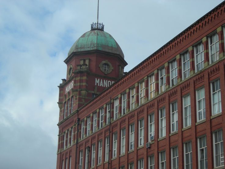 Manor Mill. Taken on a visit to Chadderton, Oldham - our Grandad worked here :)