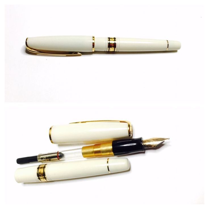 Vintage 18k 750 Gold WATERMAN Fountain PEN, Ivory Color, Paris/France  | eBay