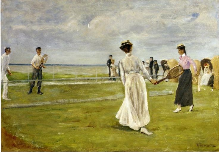 Tennis Game by the Sea