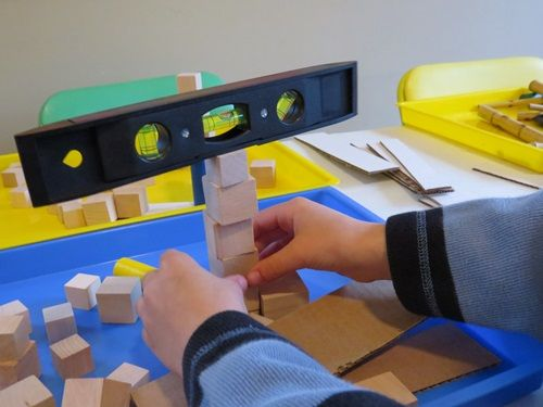 Exploring balance in preschool | Teach Preschool Need to get a few small levels for the block area!!!