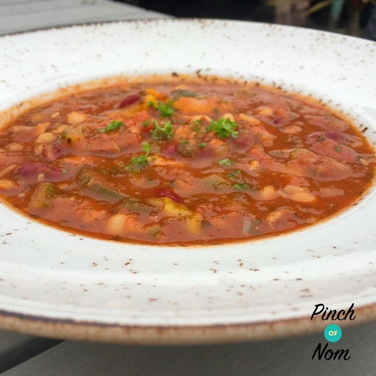 Syn Free Cajun Red Bean, Chick Pea and Tomato Soup | Slimming World