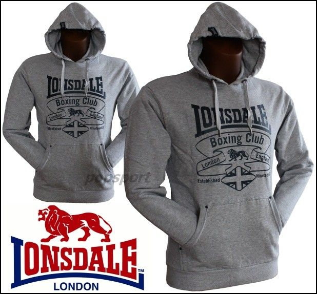 Mikina LONSDALE Boxing Club grey