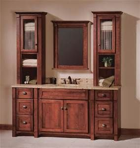 bathroom vanity with cabinet tower