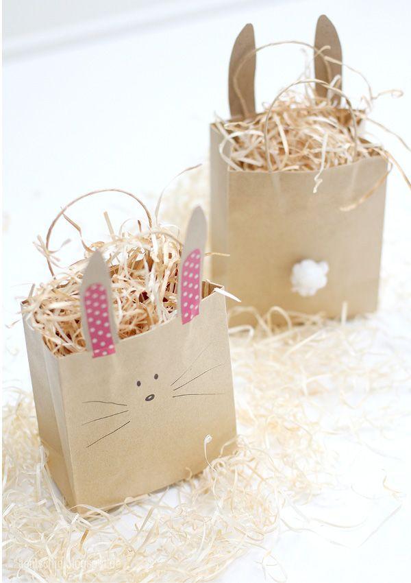 aentschies Blog: Oster DIY - schnelle Häschentüten #easter #DIY #bunnybag
