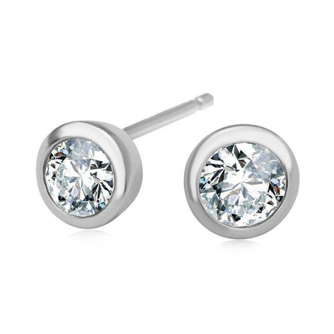 Srebrne Kolczyki z cyrkonią, 32 PLN, www.Bejewel.me/srebrne-kolczyki-z-cyrkonia-1167 #jewellery #silver #bejewelme #bjwlme #shoponline #accesories #pretty #style