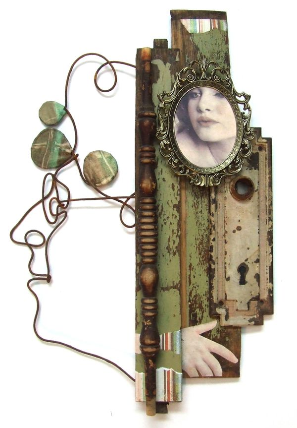 """Aging of a woman"" assemblage by Joel Armstrong, via Behance"