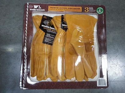 Gardening Gloves 139864: 3 Pairs Wells Lamont Premium Leather Work Gloves Precurved Design Large -> BUY IT NOW ONLY: $30.49 on eBay!