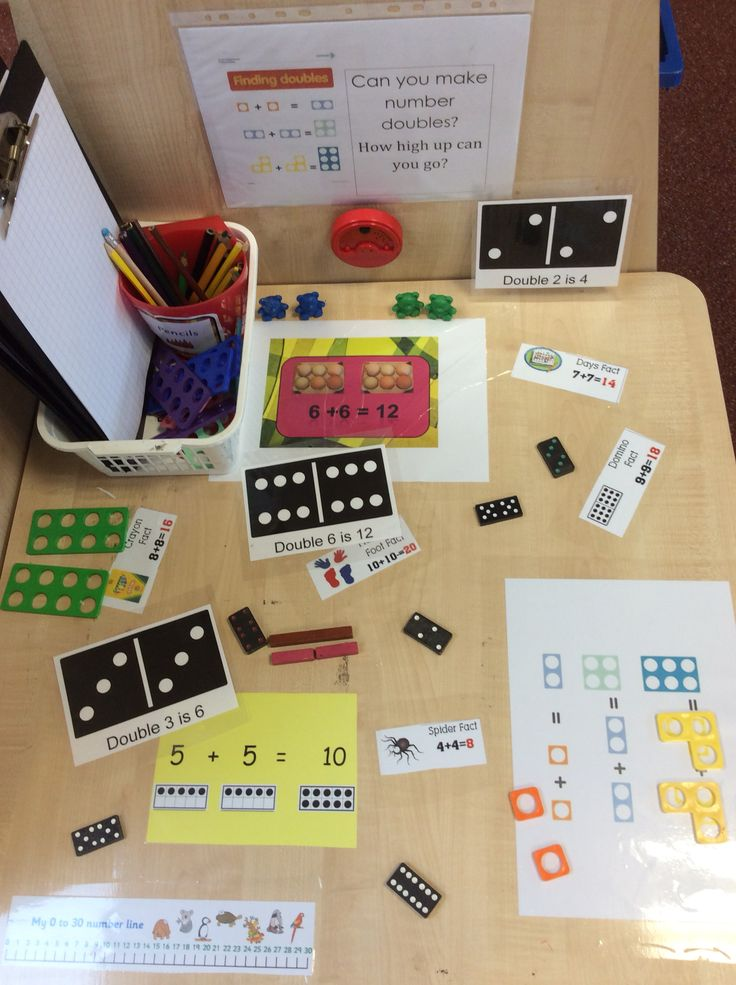 Maths challenge EYFS reception manipulatives doubles Talking tin reads challenge and gives differentiation.