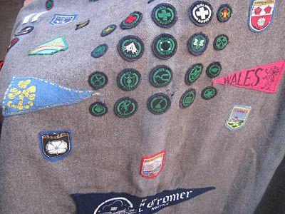 vintage scout camp blanket