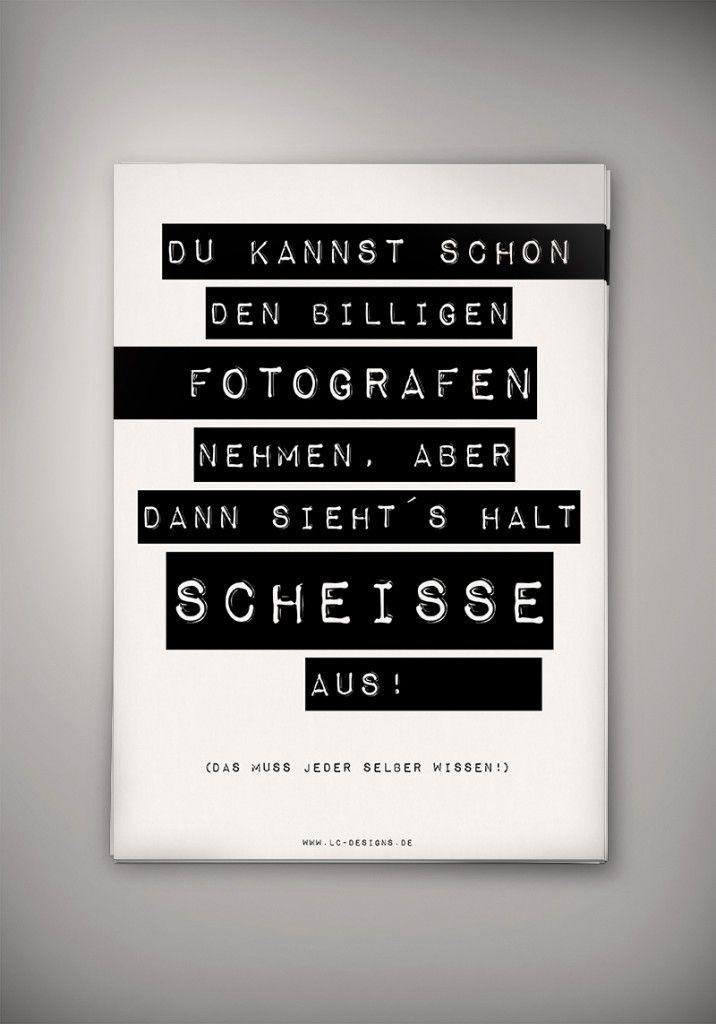 "A3 Poster ""Scheisse"", Fotografen-Humor, LC Designs"