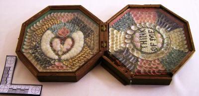 A sailor's valentine. Colchester Historeum collection, Truro