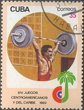 Znaczek: Weightlifting (Kuba) (Central American and Caribbean Games) Mi:CU 2679