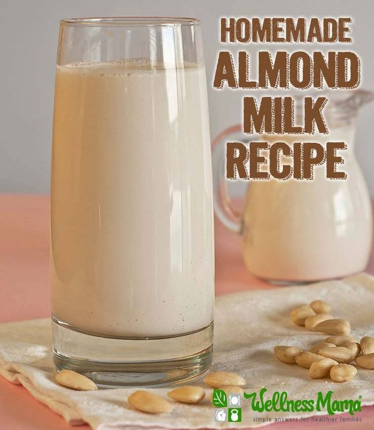 Simple Homemade Almond Milk Recipe Organic Homemade Almond Milk Recipe