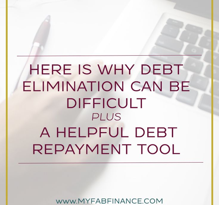 Here is Why Debt Elimination Can Be Difficult PLUS A Helpful Debt Repayment Tool
