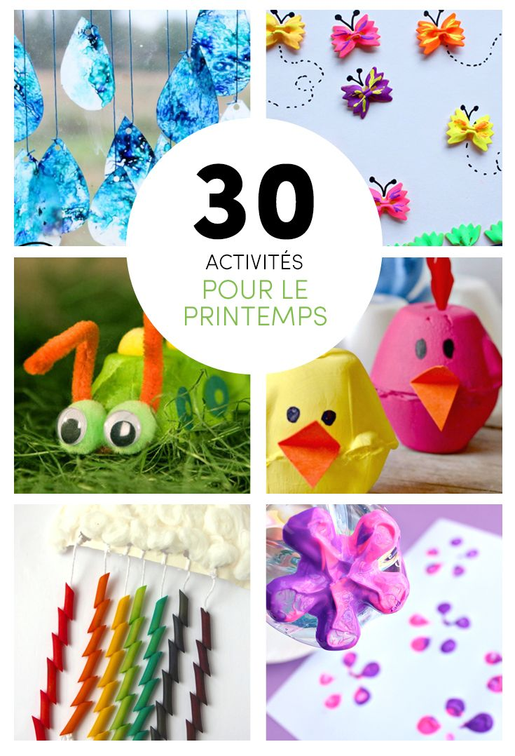 30+ meilleures idées de bricolages et d'activités pour enfants sur la thématique du printemps!