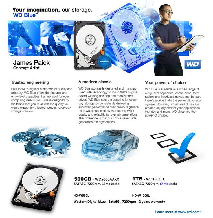 Your imagination, our storage. WD BLUE
