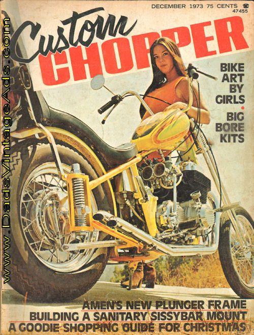 1973 Custom Chopper – Bike art by girls, Big Bore Kits, more!