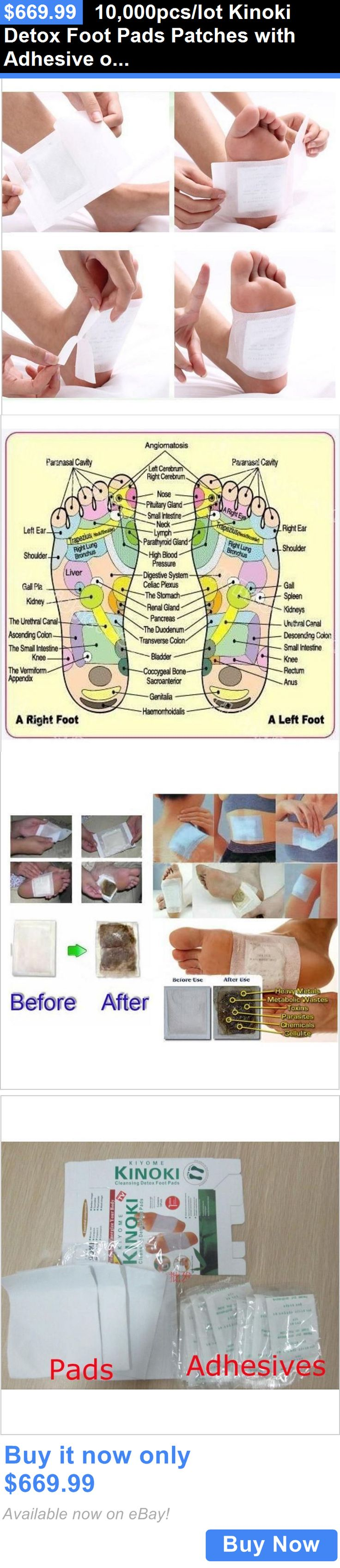 Detox Pads: 10,000Pcs/Lot Kinoki Detox Foot Pads Patches With Adhesive Opp Packing Foot Care BUY IT NOW ONLY: $669.99