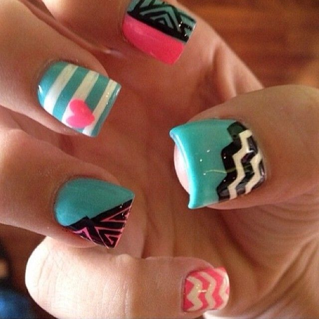 nice Latest 80 Simple Nail Art Designs for Short Nails: 2015