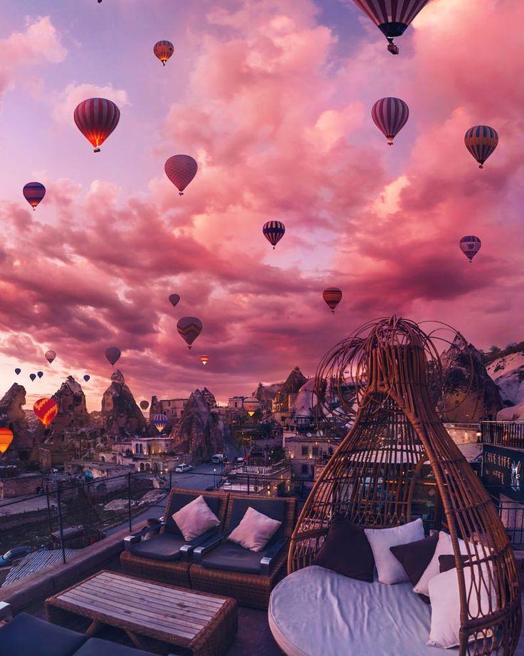 Cappadocia by Kristina Makeeva on 500px ..... #sky #sunrise #sunset #balloon #cappadocia #kapadokya #chimney #unesco #goreme  #nevsehir #turkey