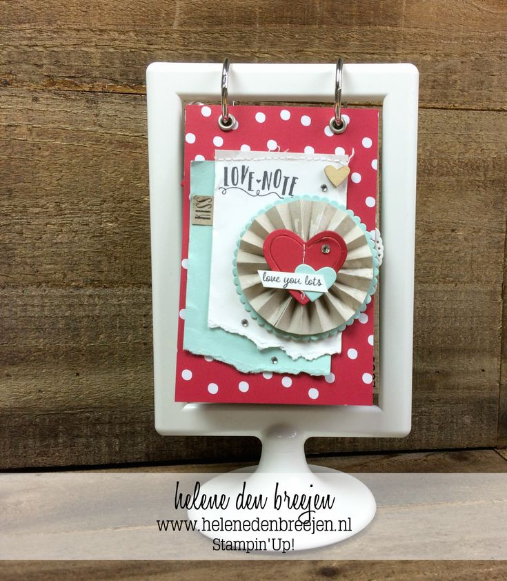Stampin'Up! Sealed with love, flip over mini album