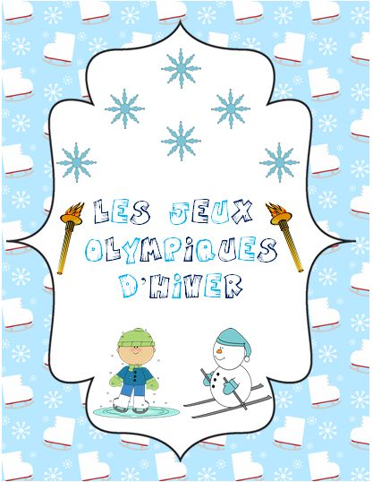 This file includes a total of 39 French vocabulary cards for all of the Winter Olympics sports/ Les jeux Olympiques d'hiver. This package also includes 6 activities related to the Winter Olympics.