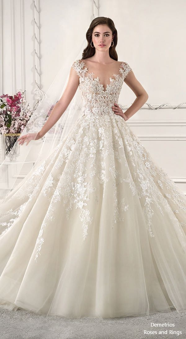 Demetrios 2019 Wedding Dress #weddings #weddingideas #weddingdresses #dresses #…