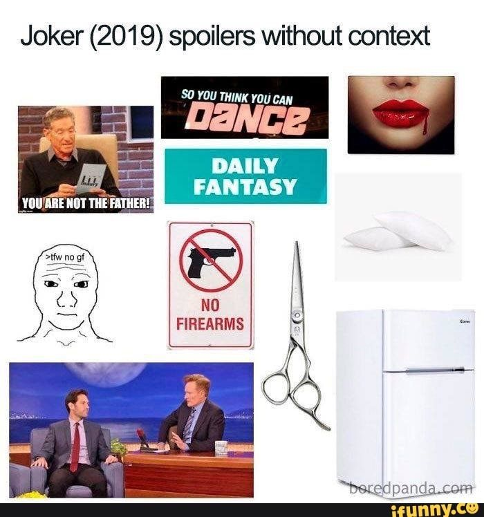 Joker 2019 Spoilers Without Context Ifunny Funny Movie Memes Funny Batman Memes Funny Halloween Memes
