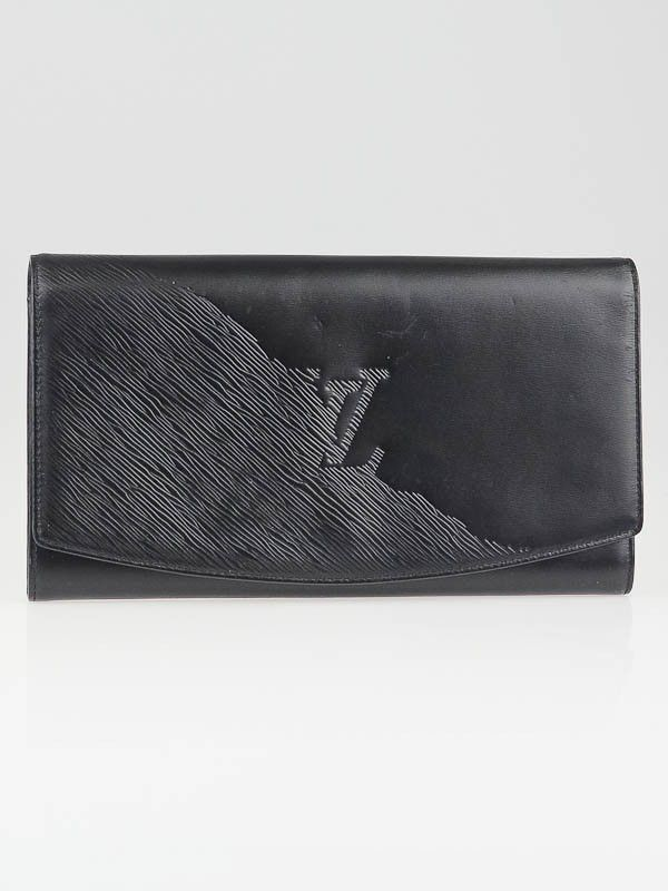 b1db1c16daf0 Louis Vuitton Black Opera Leather Pochette Egee Clutch Bag - Yoogi s Closet   Louisvuittonhandbags