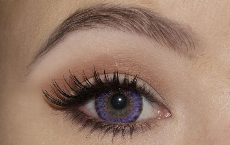 Purple Colored Eye Contacts