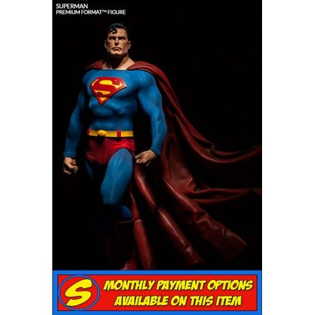 #SIDESHOWCOLLECTIBLES - #DC #SUPERMAN PREMIUM FORMAT STATUE   Superman is arguably the most recognized superhero in pop culture.   Sideshow is bringing him to life in stunning 1:4 scale. Set in the frozen sanctuary of the Fortress of Solitude, the Superman Premium Format figure stands over two feet tall, crafted with unparalleled attention to detail. The Man of Steel, DC Comics' iconic superhero, can now be part of your collection.