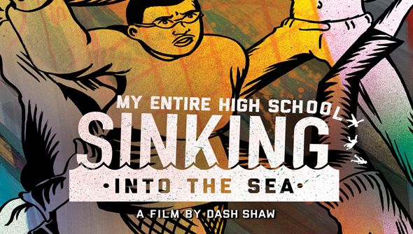 My Entire High School Sinking Into the Sea is a 2016 American animated teen comedy drama film directed by Dash Shaw. It was selected to be screened in the Vanguard section at the 2016 Toronto International Film Festival. It is scheduled to be theatrically released on April 14, 2017 in the United States, by GKIDS.  Hollywood Movies Hindi Dubbed HD