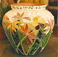 A beautiful mosaic treatment...Lucille Otto via Lucille Otto onto Mosaics &…