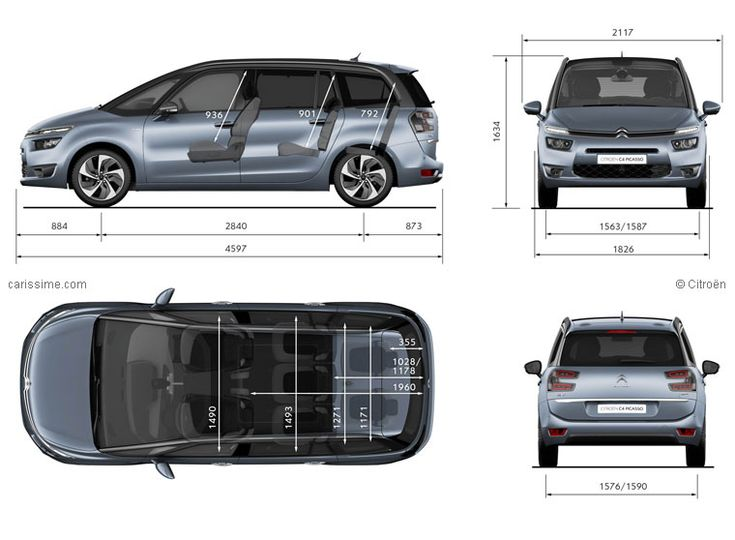 citro n grand c4 picasso 2 dimensions mpvs pinterest cars