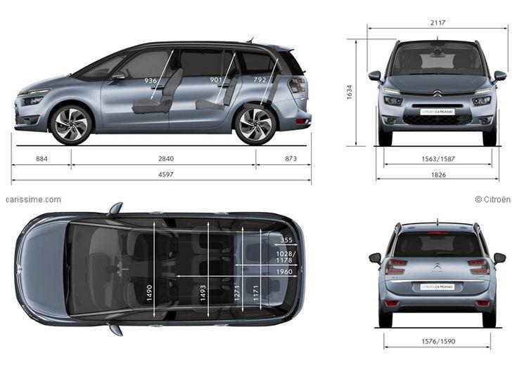 Citroën Grand C4 Picasso 2 Dimensions