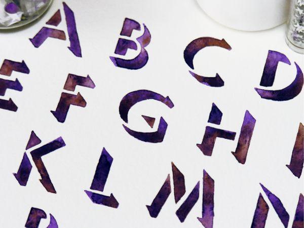 Watercolor Alphabets by Sasha Prood, via Behance