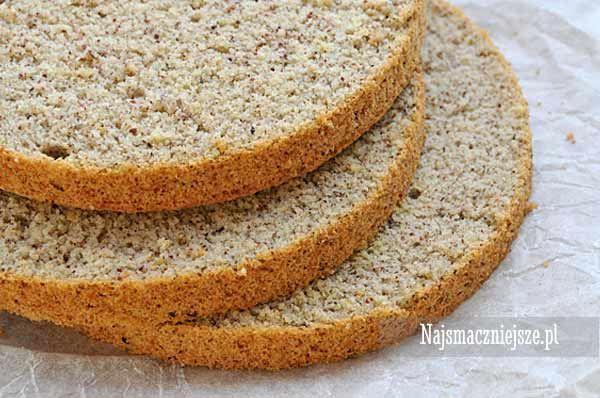 Biszkopt orzechowy, biszkopt z orzechami, biszkopt, orzechy laskowe, sponge cake, http://najsmaczniejsze.pl #food #cake #spongecake