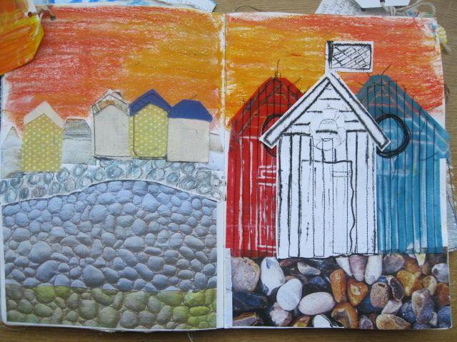Year 10 Sketchbook work for seaside project