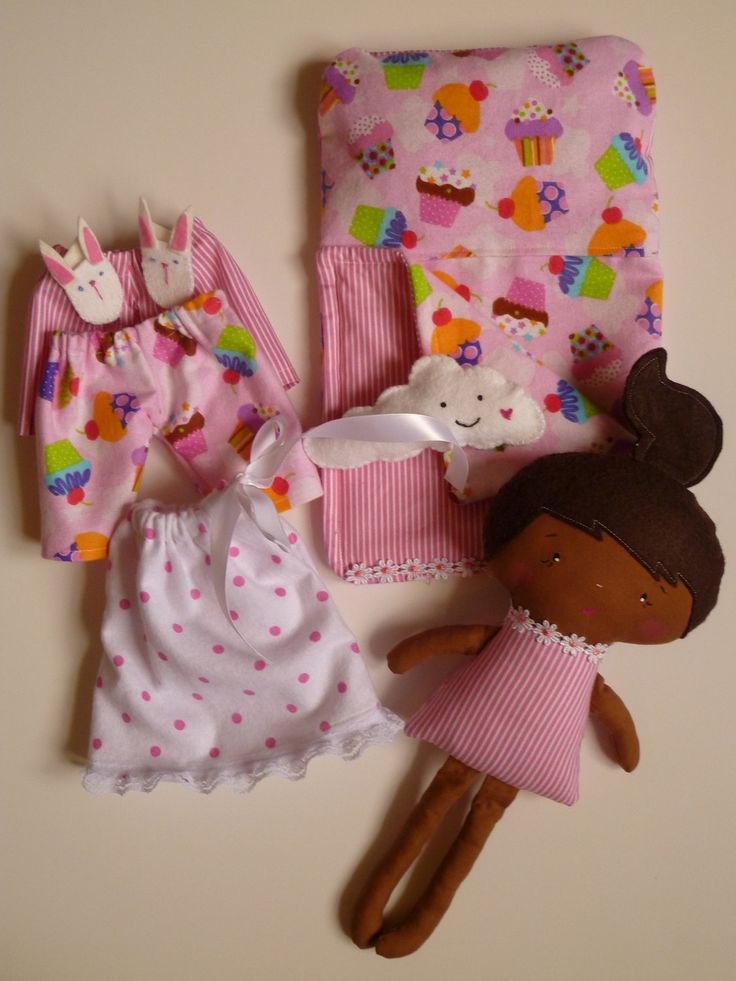 Cloth doll play set